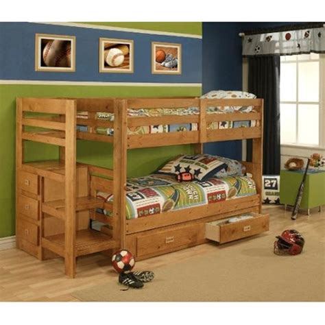 oak furniture west pine bunk bed  storage home pinterest  boys furniture  twin