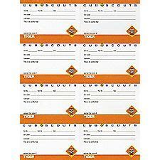 Cub Scout Advancement Card Templates by Belt Loop Pin Award Card Cub Scouts