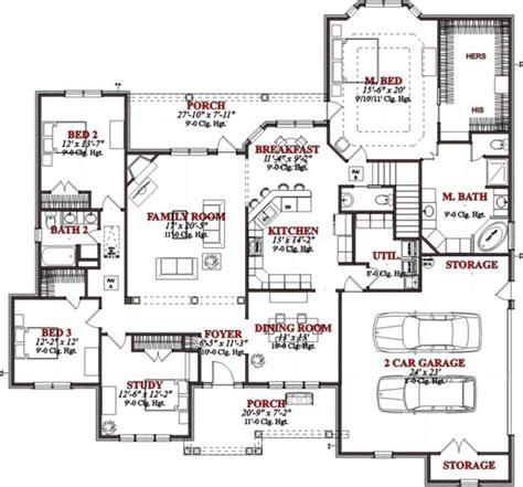 contemporary house plan 78715 3 car garage breakfast