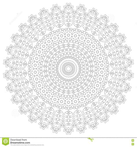 mandala illustration circular intricate pattern lace