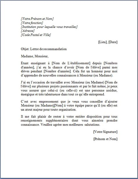 Lettre De Motivation Anglais Recommandation Lettre De Motivation 233 Tudiant Employment Application