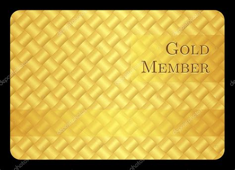 gold membership card template golden member card with modern pattern stock vector