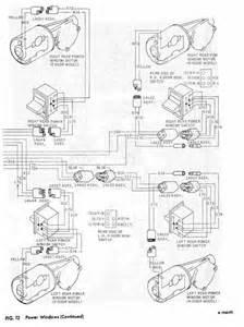 power windows schematic diagram of 1967 1968 thunderbird