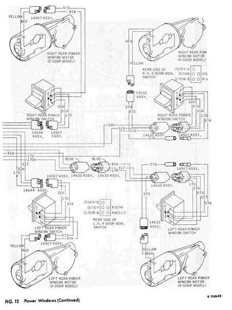 1964 thunderbird electric window wiring diagram 47