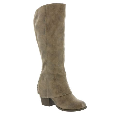 womans wide calf boots fergalicious lundry wide calf s boot ebay