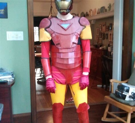 How To Make A Paper Iron Suit - iron costume 2