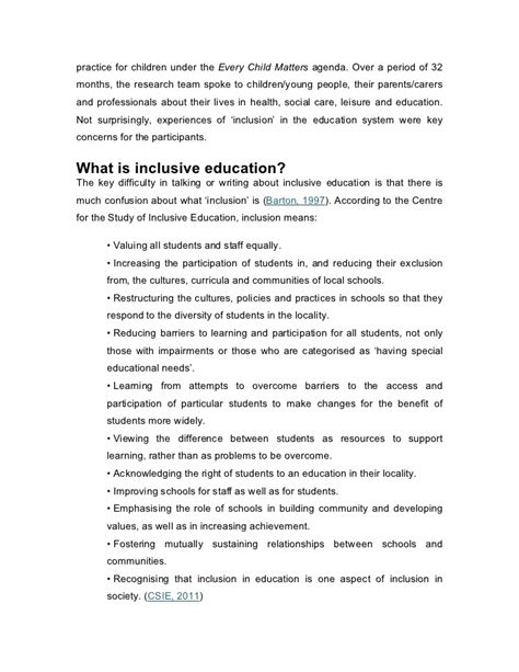 thesis about inclusive education dissertation on barriers to effective inclusive education
