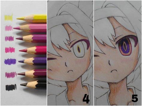 how to color anime tutorial 1 coloring tutorial colored pencils anime