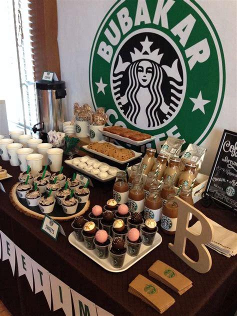 coffee themed decorations starbucks starbucks cafe dessert bar ideas dessert