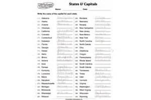 us map quiz states and capitals states and capitals worksheets printable davezan