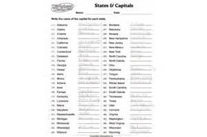 states and capitals worksheets printable davezan