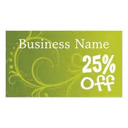 business card promo discount coupon retail template business cards zazzle