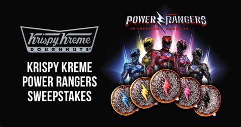 Krispy Kreme Giveaway - win krispy kreme power rangers sweepstakes krispykreme com powerrangerssweepstakes