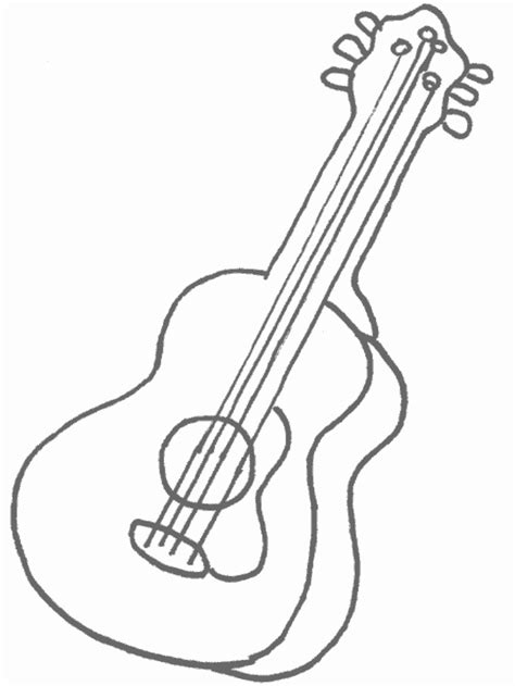 Coloring Pages For Guitar Coloring Pages For