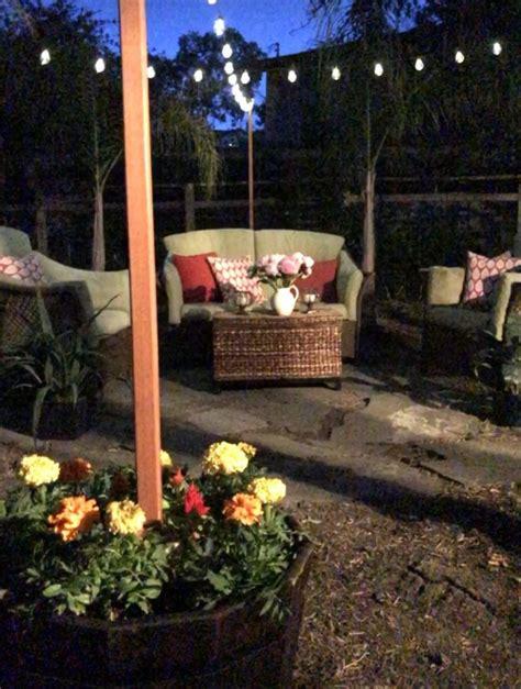 hanging string lights in backyard hanging string lights in backyard pozicky co