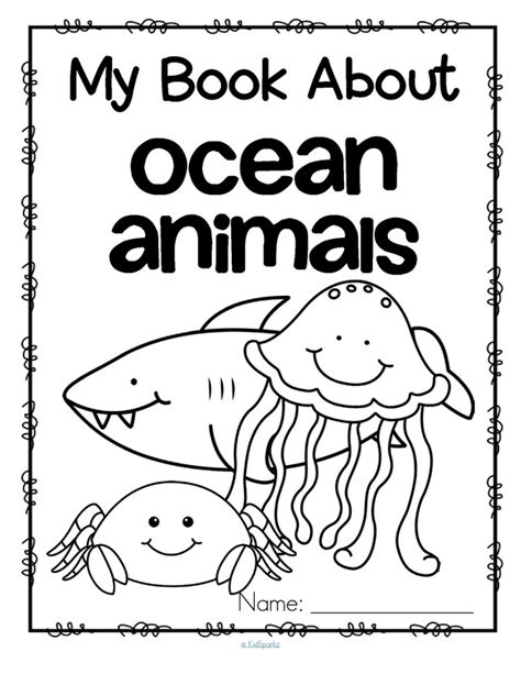 preschool coloring pages ocean animals sea creatures worksheet for kindergarten ocean animals