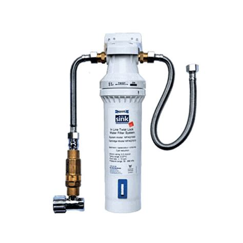 in line water filter for kitchen sink aquila in line twist lock filter system the sink