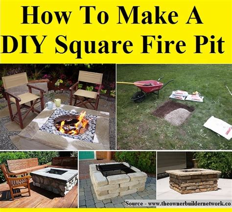 how to make a pit how to make a diy square pit home and tips