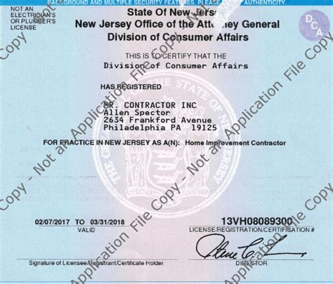 new jersey home improvement license 28 images images