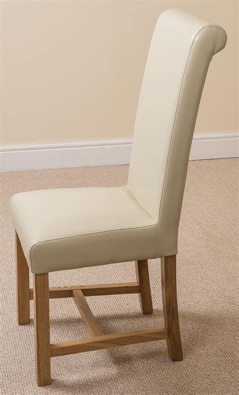 Dining Chairs Edmonton Edmonton Dining Set 6 Ivory Chairs Oak Furniture King
