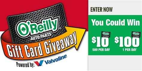Oreillys Gift Card - o reilly automotive gift card giveaway and iwg sweepstakesbible