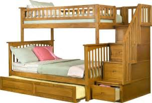 Twin Over Queen Bunk Bed With Stairs Full Over Bunk Beds With Stairs Twin Bed Plans D