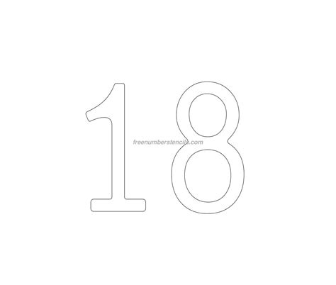number 18 template cake free 18 number stencil freenumberstencils