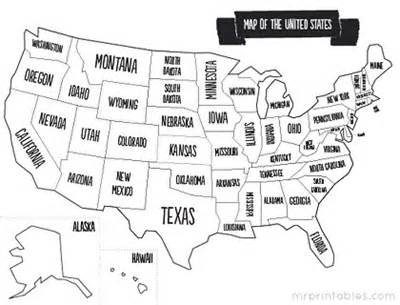 free printable maps of united states for