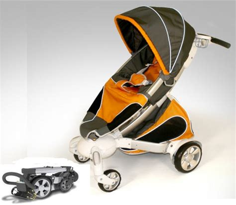 Origami Buggy - origami stroller makes the baby buggy high tech