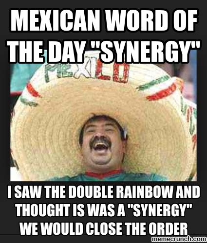 Meme Of The Day - mexican word of the day quot synergy quot