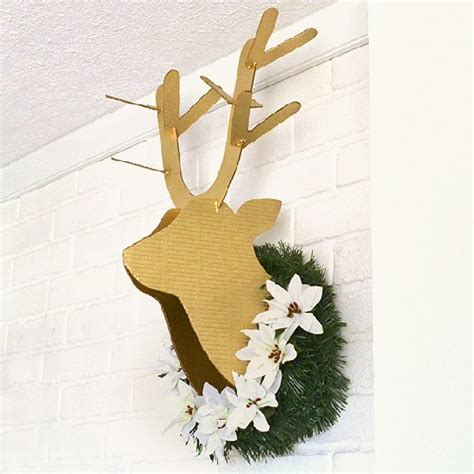 free cardboard taxidermy templates 16 cardboard deer ideas guide patterns