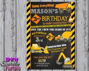 printable construction invitation construction birthday invitation dump truck invitation