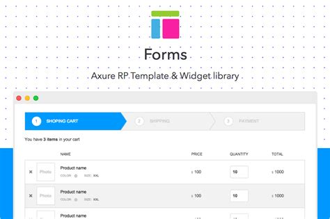 axure template forms website templates on creative market