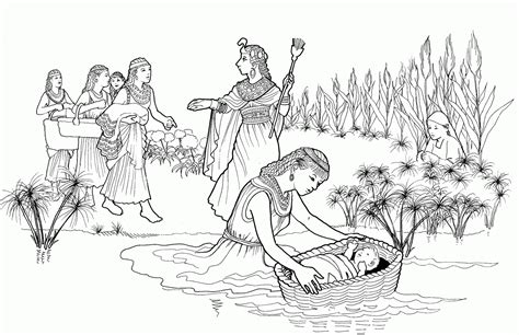 coloring pages of baby moses baby moses coloring page coloring home