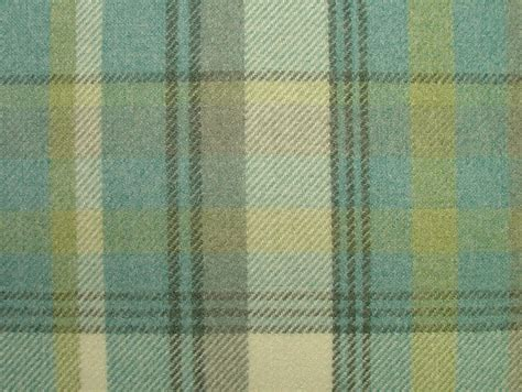 thick curtain fabric elgin parisian blue wool effect washable thick tartan
