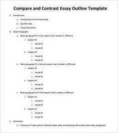 compare and contrast essay template essay outline template 10 free free word pdf format