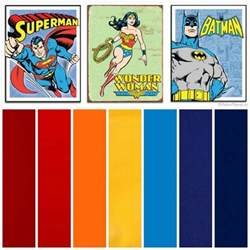 kids color scheme kids room superman wonder woman and batman comic book