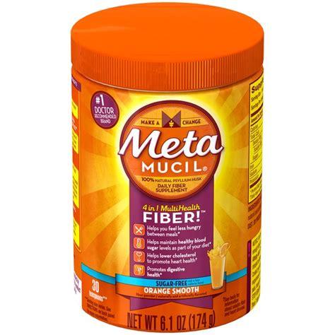 metamucil orange smooth sugar free powder fiber supplement