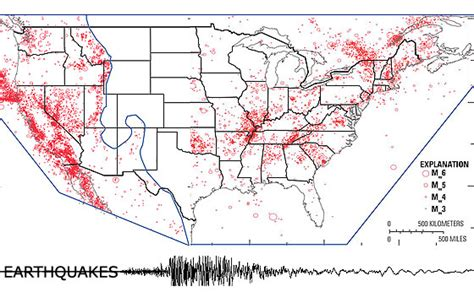 united states earthquake map new earthquake hazards maps expand seismic risks into