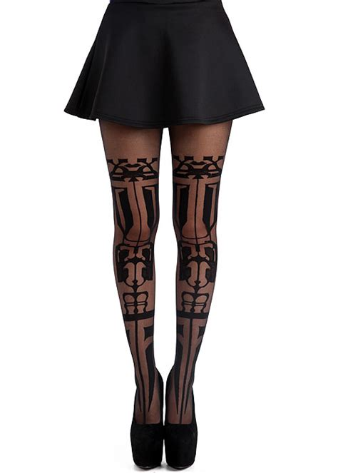 Legging Tribalism mann tribal sheer tights in stock at uk tights