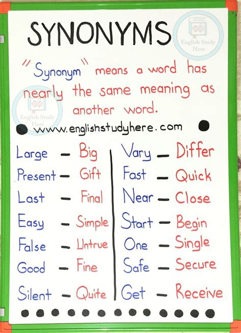 synonym words with l study page large synonyms in bruin