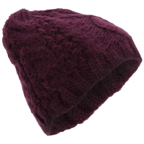 womens winter cable knit beanie hat