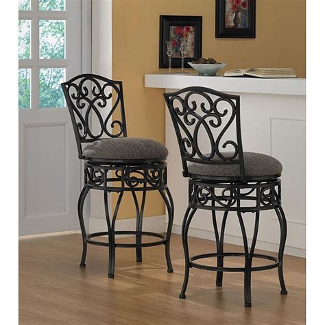 wrought iron stools counter height comfortable and supportive these padded wrought iron