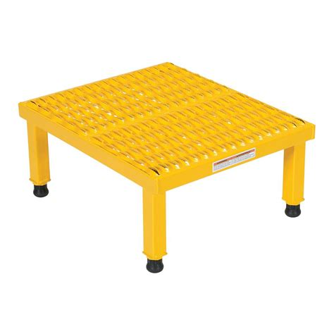 Osha Compliant Step Stool by Vestil 1 Step Yellow Aluminum Step Stand Welded Ssa 1 Y