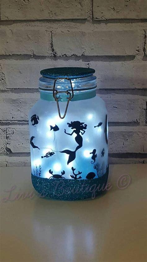 little night lights mermaid night light mood lighting little mermaid jar with