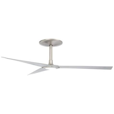 60 ozone led white ceiling fan 60 quot ozone 174 led brushed nickel ceiling fan 8 quot extension
