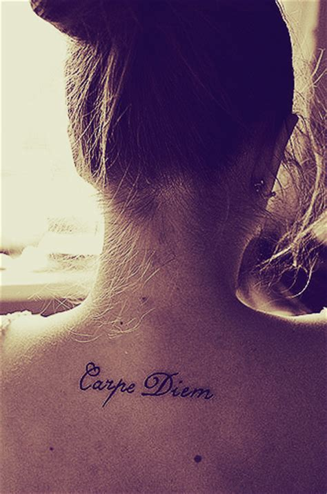 tattoo quotes like carpe diem carpe diem tattoo quotes quotesgram