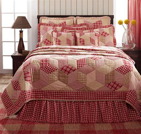 red quilt bedding breckenridge red plaid value quilt set