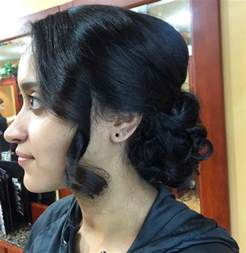 pic of black side swept bangs and bun hairstyle 18 low bun haircut ideas designs hairstyles design