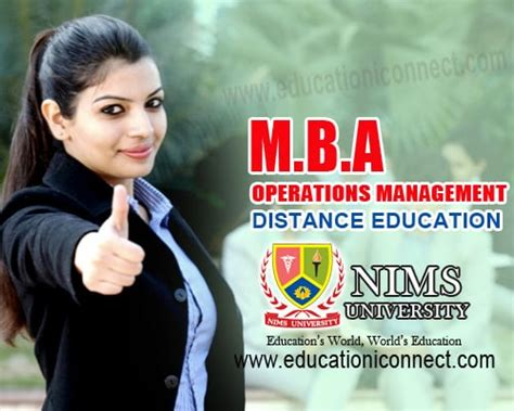 Mba Distance Education In Chennai by Mba Operations Education I Connect